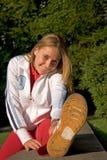 Deporte y mujer Foto de archivo libre de regalías