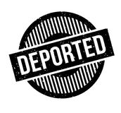 Deported rubber stamp Royalty Free Stock Photography