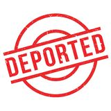 Deported rubber stamp Royalty Free Stock Photos