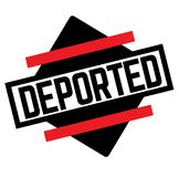 DEPORTED stamp on white. Background. Labels and stamps series royalty free illustration