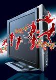 Deportes con pantalla grande libre illustration