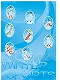 Deportes de invierno Imagenes de archivo