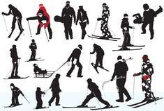 Deportes de invierno stock de ilustración