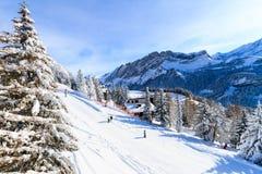 Deportes de invierno en Suiza Foto de archivo libre de regalías