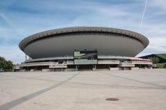 Deportes de Katowice, de Spodek y pasillo del entretenimiento Imagen de archivo