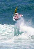 Deportes de la acción Windsurfing Fotos de archivo libres de regalías