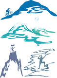 Deportes de la montaña e ilustración del vector de la actividad Fotografía de archivo