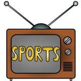Deportes de la TV Fotografía de archivo libre de regalías