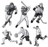 Deportes de los hombres Fotografía de archivo