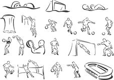 Deportes de personas Foto de archivo libre de regalías