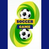 Deportes del fútbol ilustración del vector