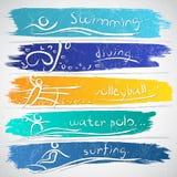 Deportes del verano Imagen de archivo libre de regalías