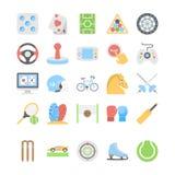 Deportes e iconos coloreados plano 2 de los juegos stock de ilustración