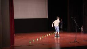 Deportes en casa de la cultura de la etapa en Pomorie, Bulgaria almacen de metraje de vídeo
