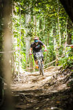 Deportes en declive de la bici Fotos de archivo