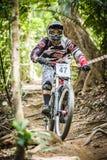 Deportes en declive de la bici Foto de archivo