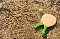 Deportes en la playa Foto de archivo libre de regalías