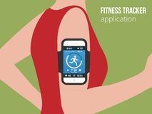 Deportes o aptitud app de seguimiento para la gente corriente Fotografía de archivo libre de regalías