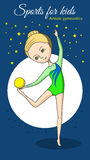 Deportes para los niños Gimnasia artística Imagen de archivo libre de regalías