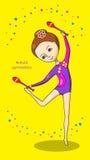 Deportes para los niños Gimnasia artística Imagen de archivo