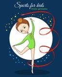 Deportes para los niños Gimnasia artística stock de ilustración