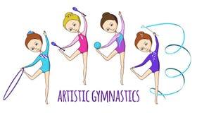 Deportes para los niños Gimnasia artística Imágenes de archivo libres de regalías