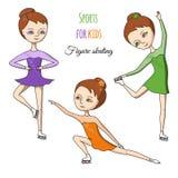 Deportes para los niños Patinaje artístico libre illustration
