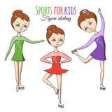 Deportes para los niños Patinaje artístico stock de ilustración