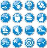 Deportes y sistema del icono de la reconstrucción Imagen de archivo libre de regalías