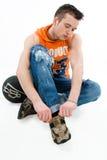 Deportista joven Imagen de archivo libre de regalías