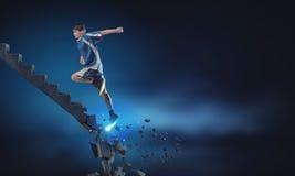 Deportista que supera desafíos foto de archivo