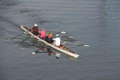 Deportistas de la canoa Imagen de archivo libre de regalías