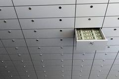 Deposit. Safe money on a white background Royalty Free Stock Image