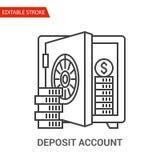 Deposit Account Icon. Thin Line Vector Illustration Stock Image