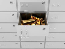 Deposit Bank Safe with Golden Bars Royalty Free Stock Photo