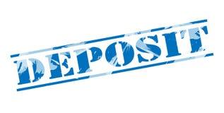 Deposit blue stamp Royalty Free Stock Image