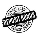 Deposit Bonus rubber stamp Royalty Free Stock Images