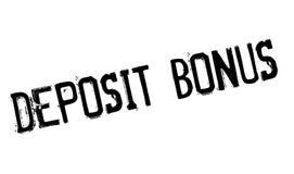 Deposit Bonus rubber stamp Stock Photography