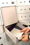 Deposit box , deposit, box Stock Images