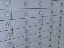 Deposit boxes Stock Photography