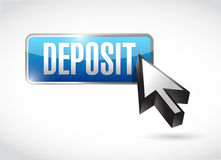 Deposit button and cursor illustration Stock Photo