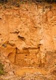 Deposit of clay. Orange old wet stock images