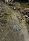 Deposit of clay on the mountain river, Raw Healing River Clay in Stock Images