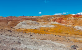 Deposit of colorful clay in the Altai Mountains or Mars valley, Kizil-Chin Stock Photo