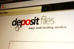 Deposit files service page Royalty Free Stock Photography