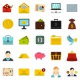 Deposit icons set, cartoon style Royalty Free Stock Images