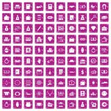 100 deposit icons set grunge pink. 100 deposit icons set in grunge style pink color isolated on white background vector illustration vector illustration