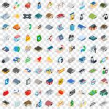 100 deposit icons set, isometric 3d style. 100 deposit icons set in isometric 3d style for any design vector illustration Stock Images