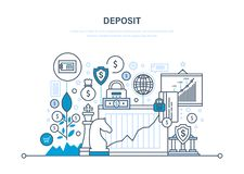 Deposit, investment, financial growth. Financial strategy, economic management, security transction. Deposit, investment, financial growth. Financial strategy Royalty Free Stock Photo