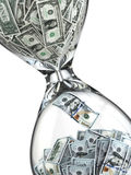 Deposit or investment. Growth of the dollar. Hourglass Stock Photography